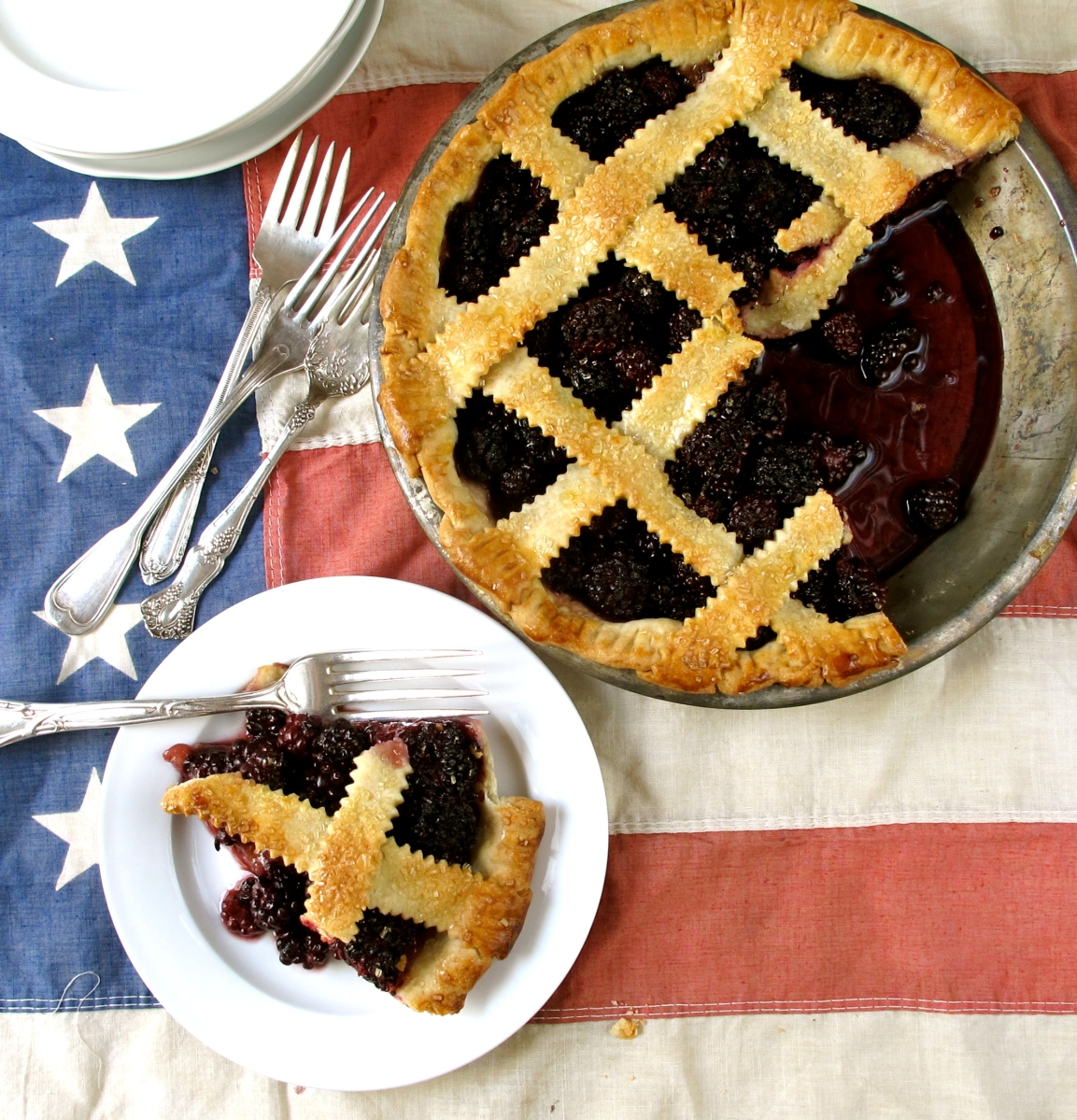 Blackberry Pie on the 4th of July | food on fifth