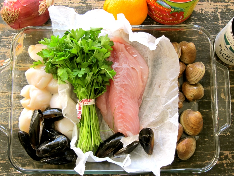 Ingredients for Bouillabasse