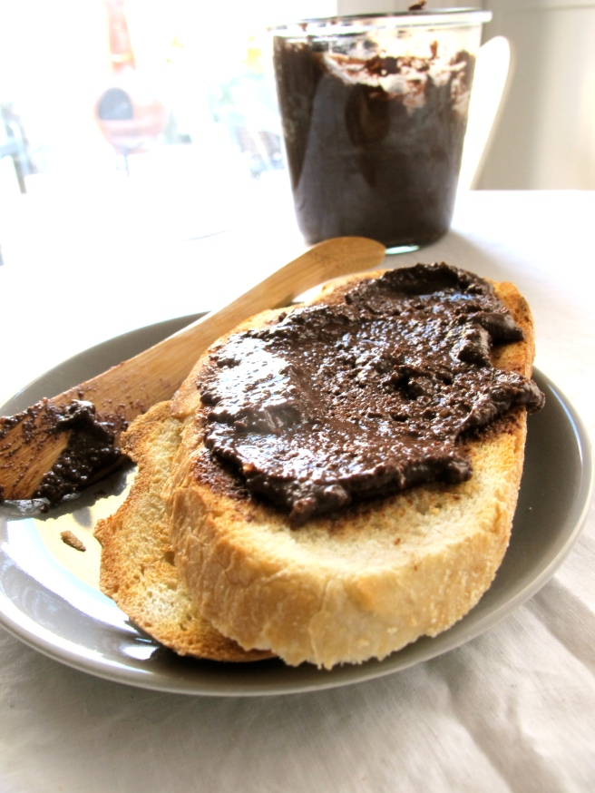 Chocolate Brazil Nut Butter Spread on toast