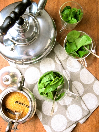 Mint Tea Making