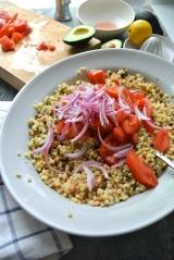 Fergola Sarda Pasta & Lady Pea Salad