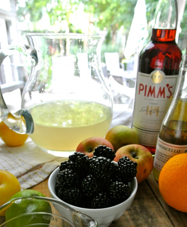 Ingredients for Pimms Lemonade