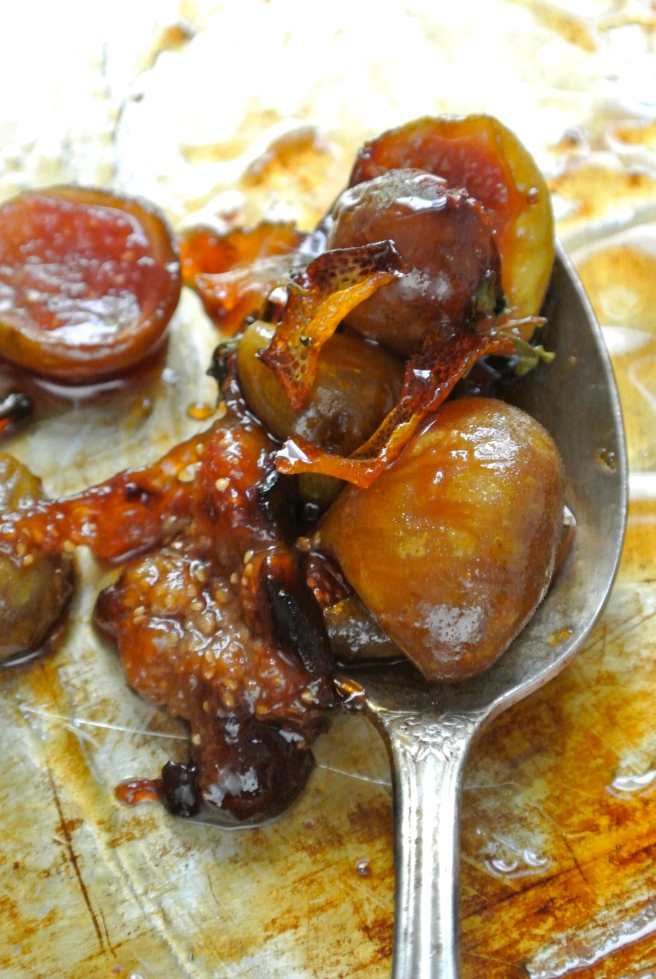 spoon of roasted figs
