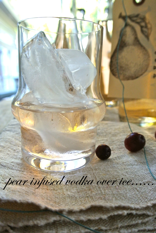 Pear Infused Vodka over ice