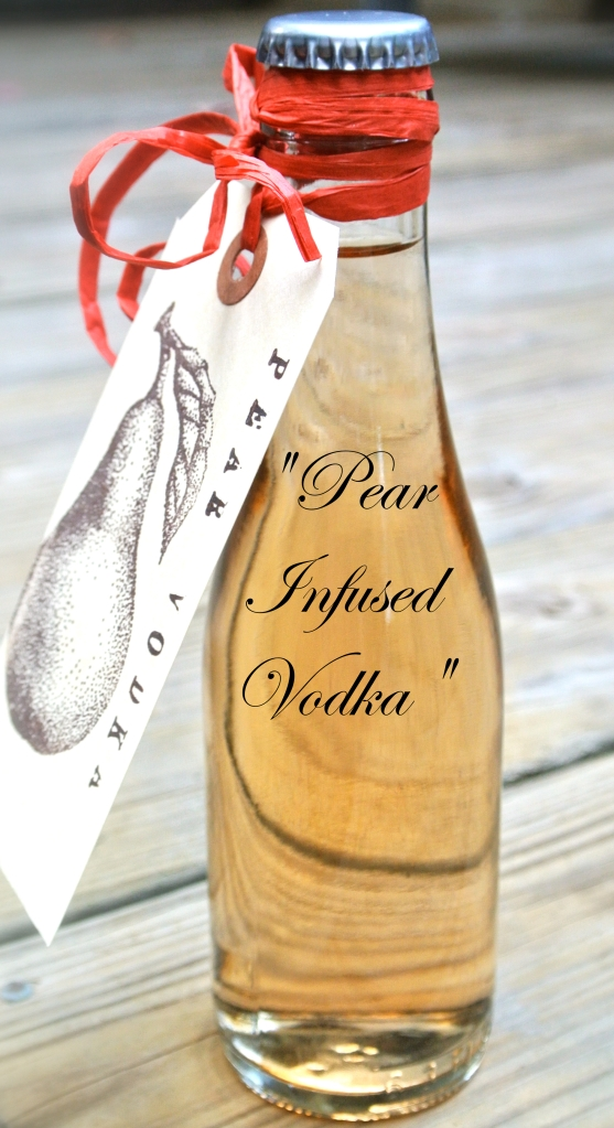 Homemade Pear Infused Vodka