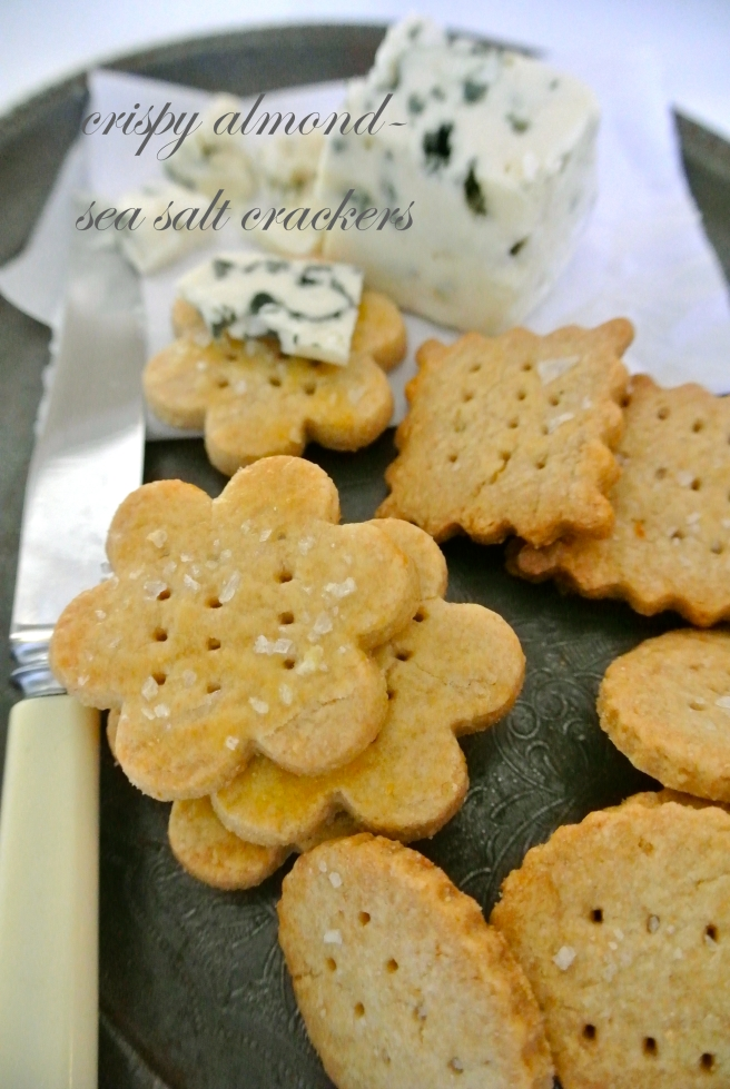 Almond Crackers with Sea Salt
