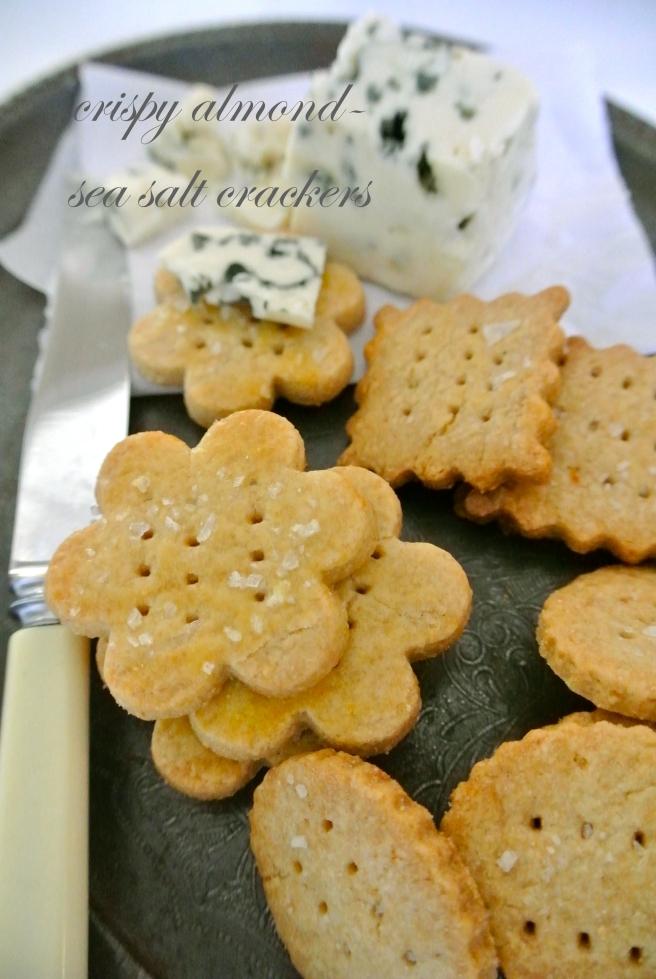 Almond Crackers with Sea Salt