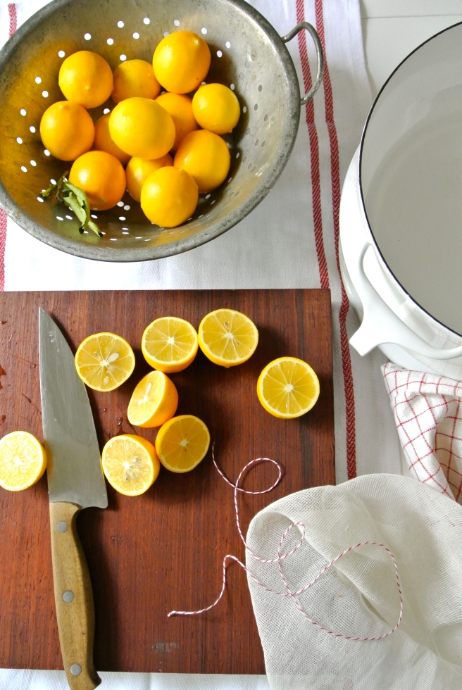 Meyer Lemon Marmalade making
