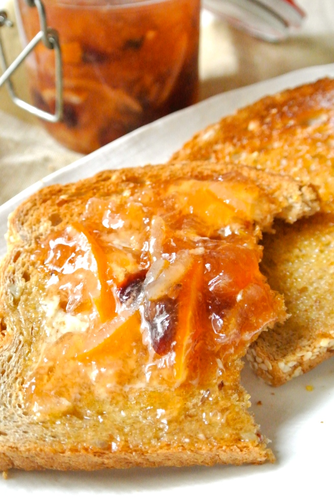 marmalade on toast with butter