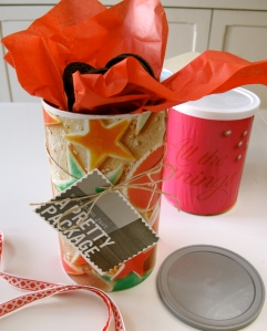 Oat boxes & coffee tins
