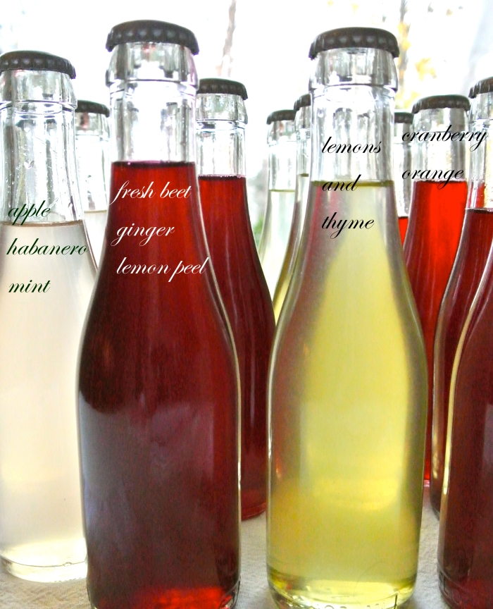 bottles of simple syrups