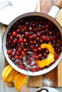 Cranberry Orange Simple Syrup