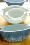 I love this blue & white bowl set. So pretty.