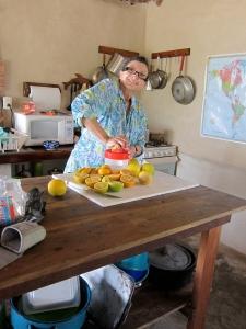 Make-shift kitchen Mexico.