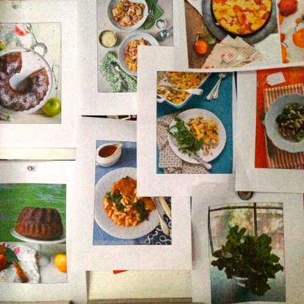 Photo copies of photo shoot images of food photos for a food magazine!