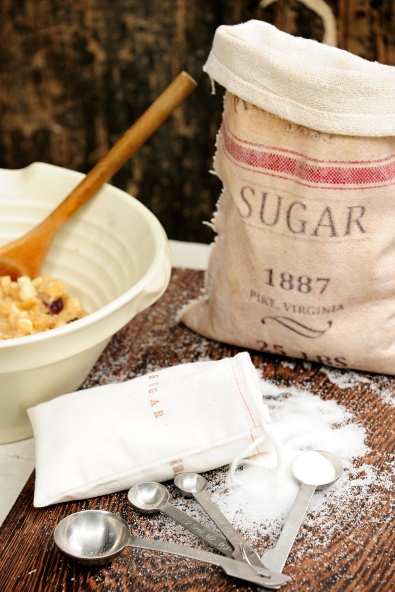 Faux old sugar bags