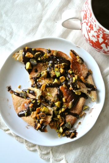 Ines Rosales Torta with Chocolate & Pistachios
