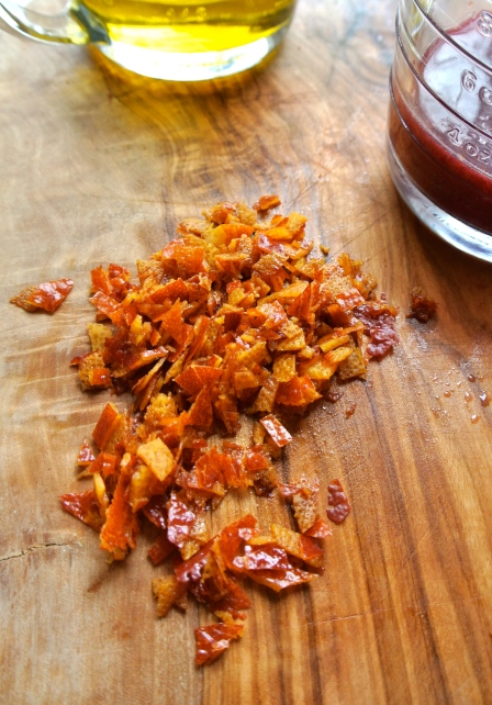Chopped Blood Orange Peel