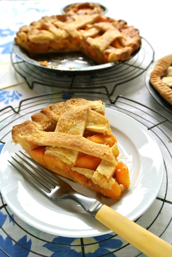 Wedge of peach pie