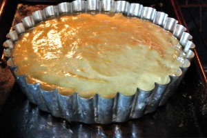 Peach Cake in the Oven