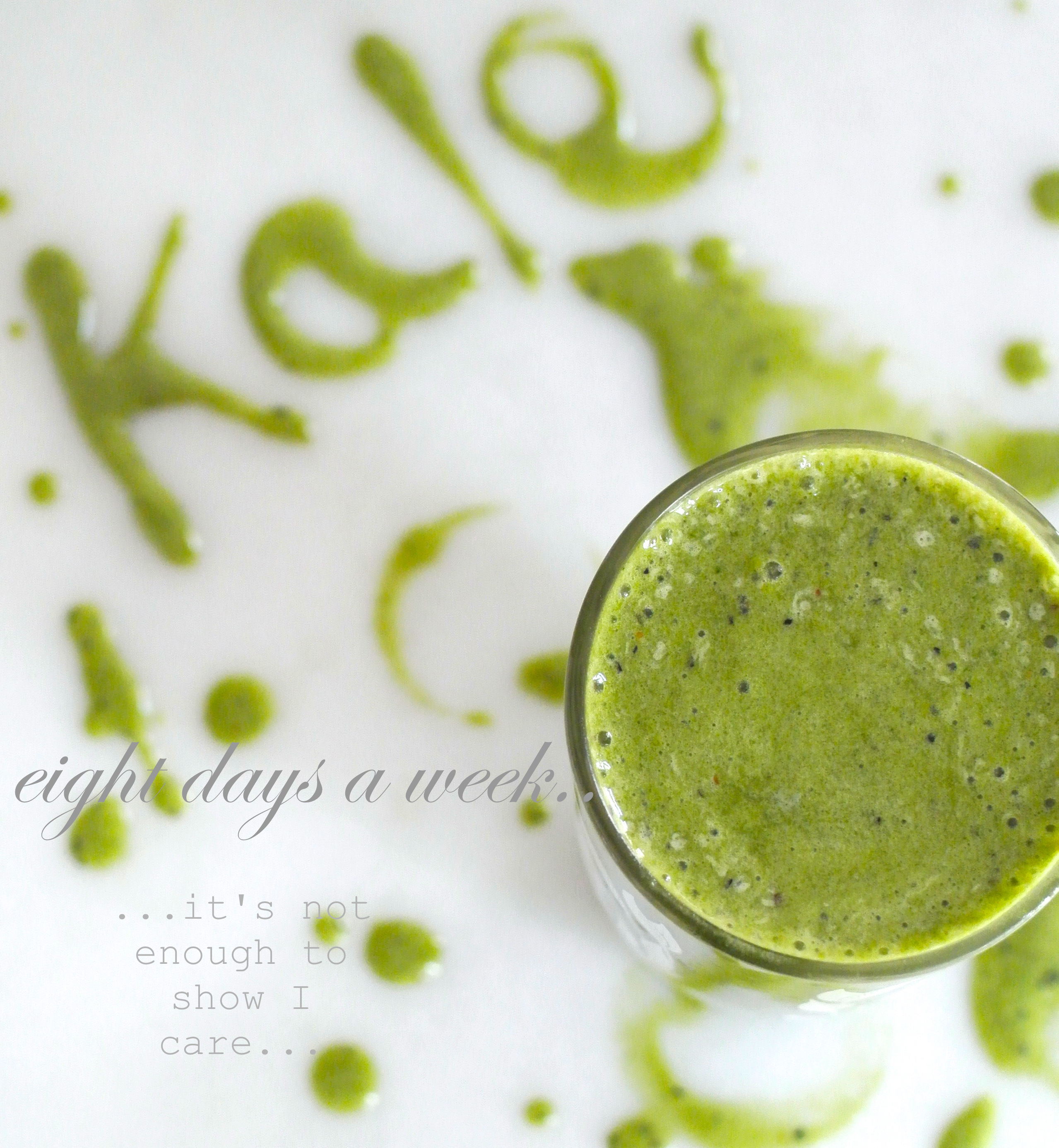 how to put kale in a smoothie