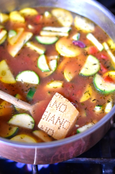 Hearty Minestrone Soup With Feta Parmesan Cornbread To