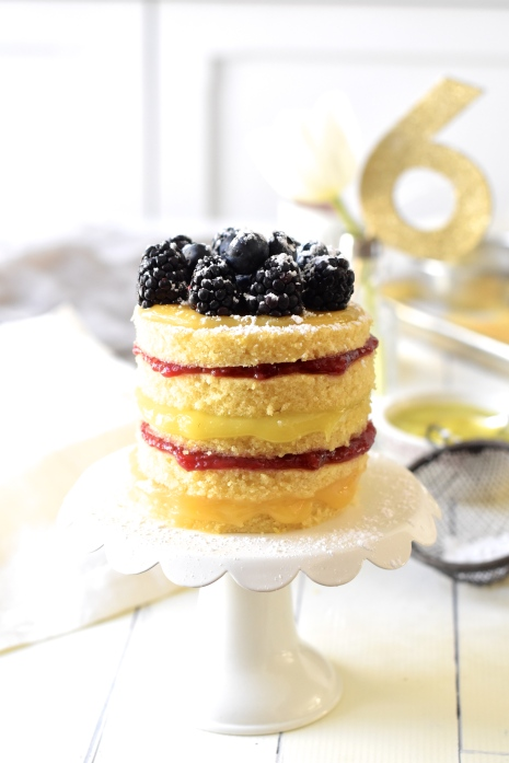 Easy Five-Layer Mini Celebration Cake and Happy 6th Birthday Food on ...